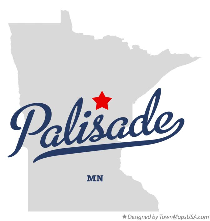 Map of Palisade Minnesota MN