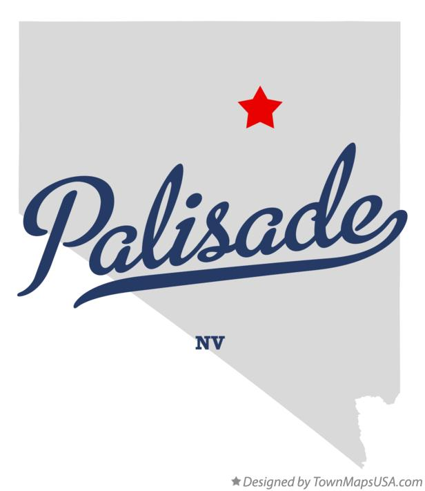 Map of Palisade Nevada NV