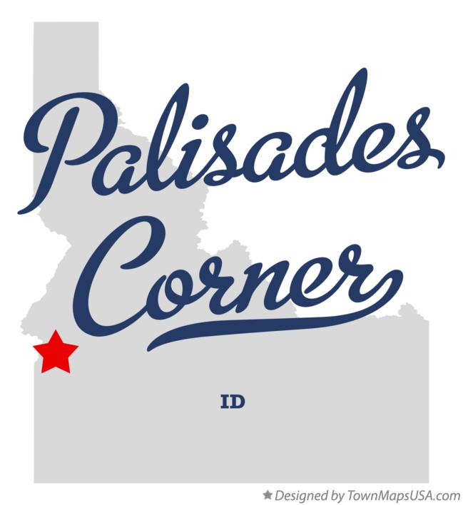 Map of Palisades Corner Idaho ID