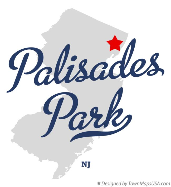 Map of Palisades Park New Jersey NJ