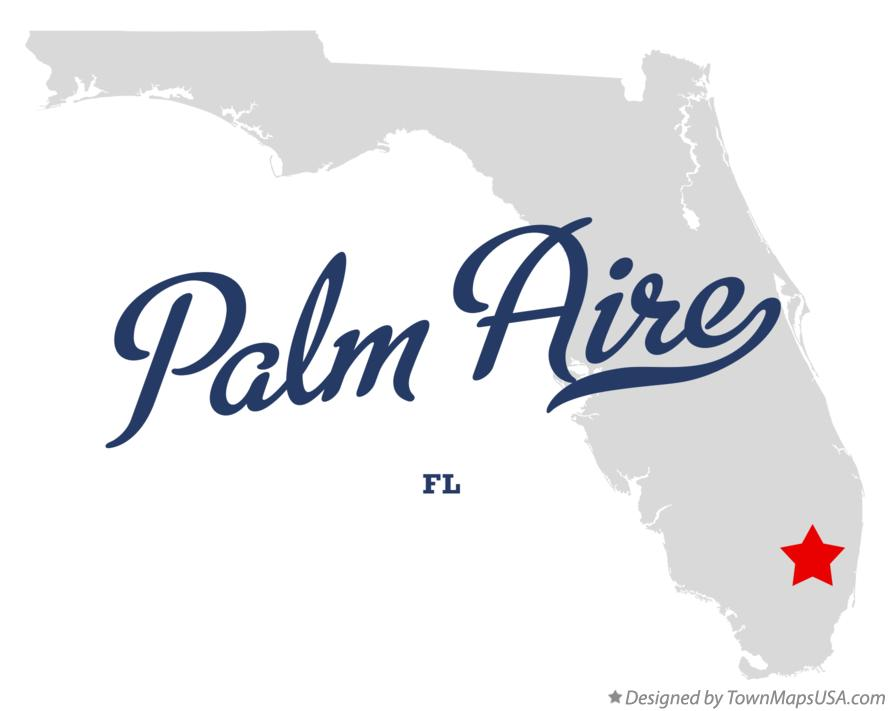 Map of Palm Aire Florida FL