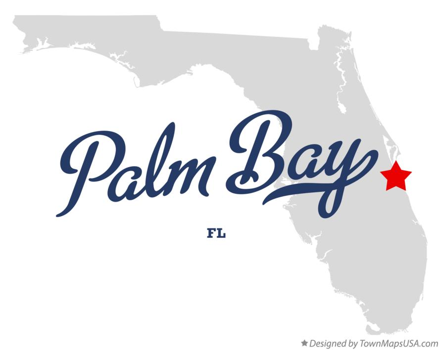 Map of Palm Bay Florida FL