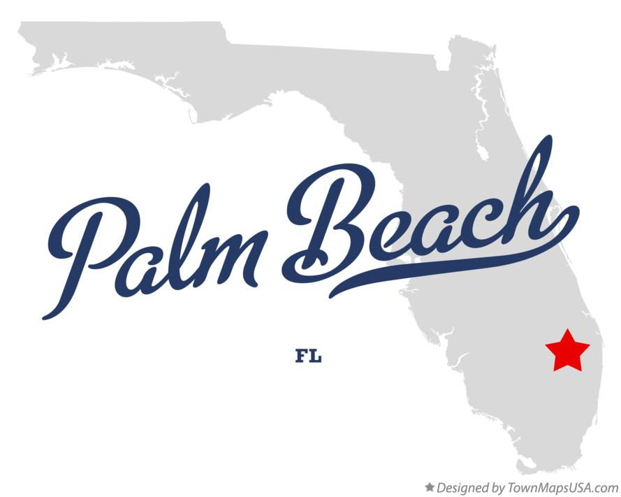 Map of Palm Beach Florida FL