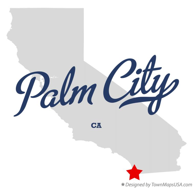 Map of Palm City California CA