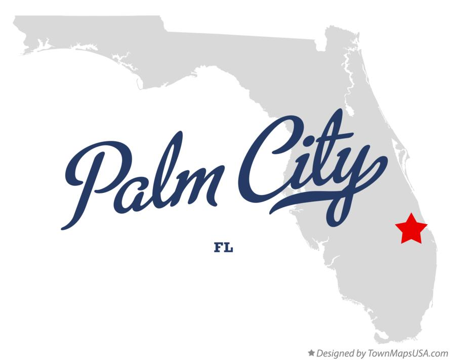 Map of Palm City Florida FL
