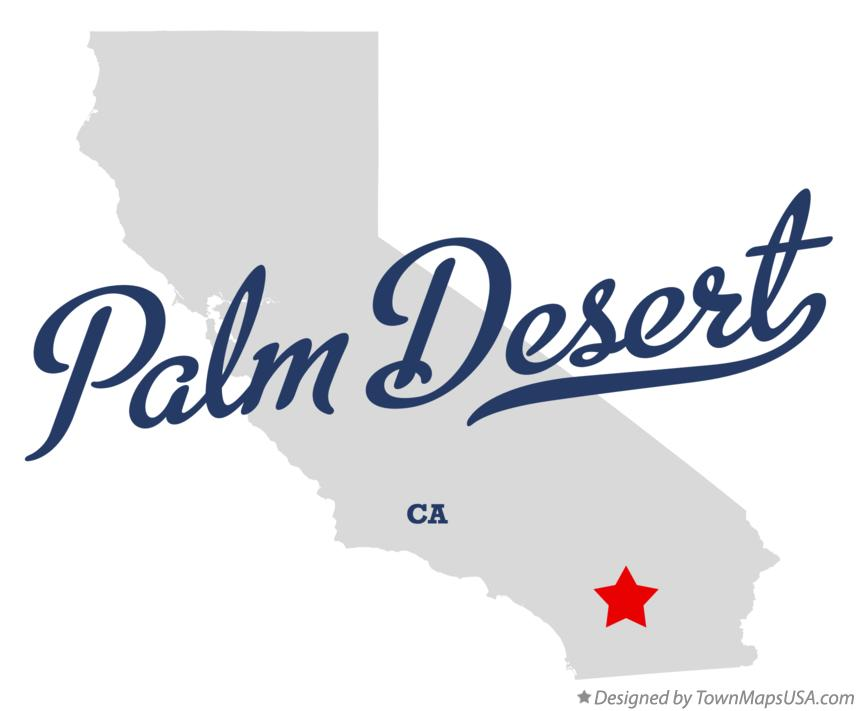 Map of Palm Desert California CA