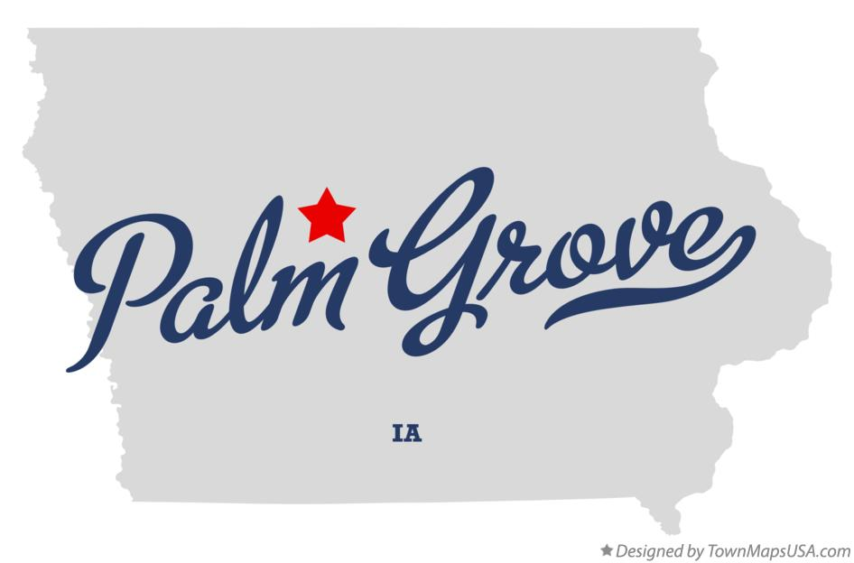 Map of Palm Grove Iowa IA