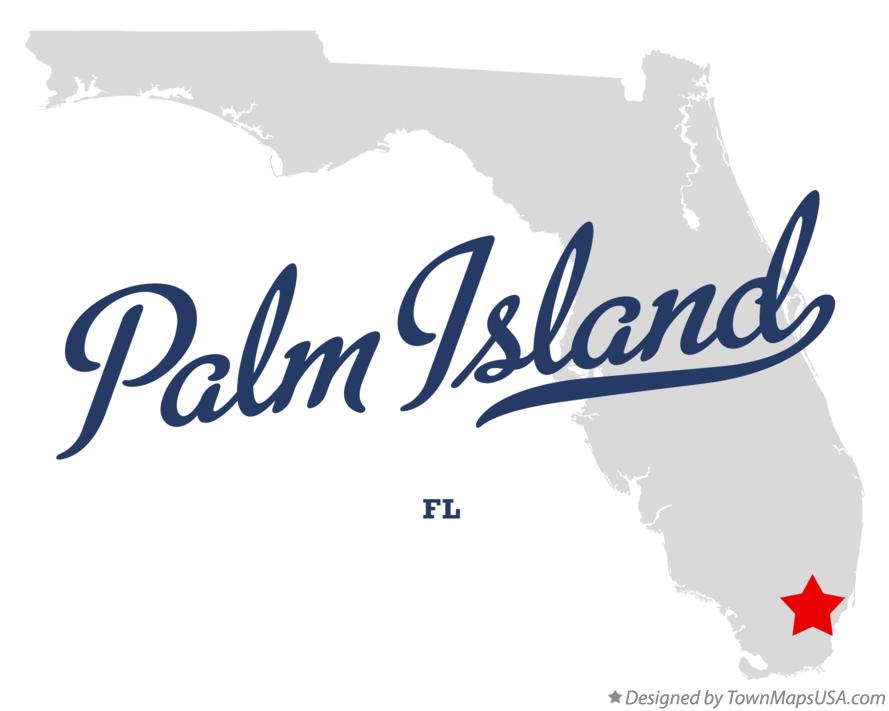 Map of Palm Island Florida FL