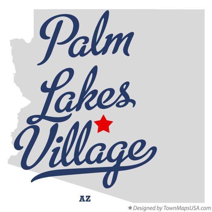 Map of Palm Lakes Village Arizona AZ