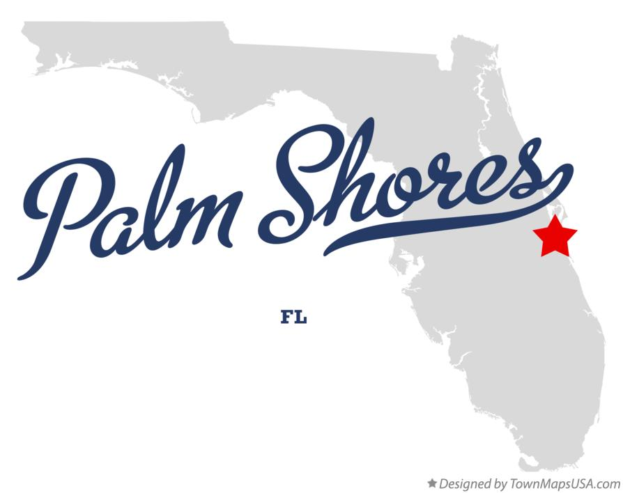 Map of Palm Shores Florida FL