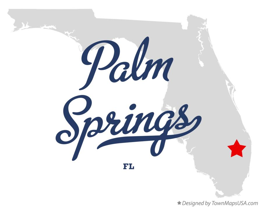Map of Palm Springs Florida FL