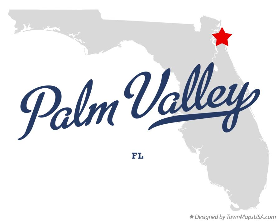 Map of Palm Valley Florida FL