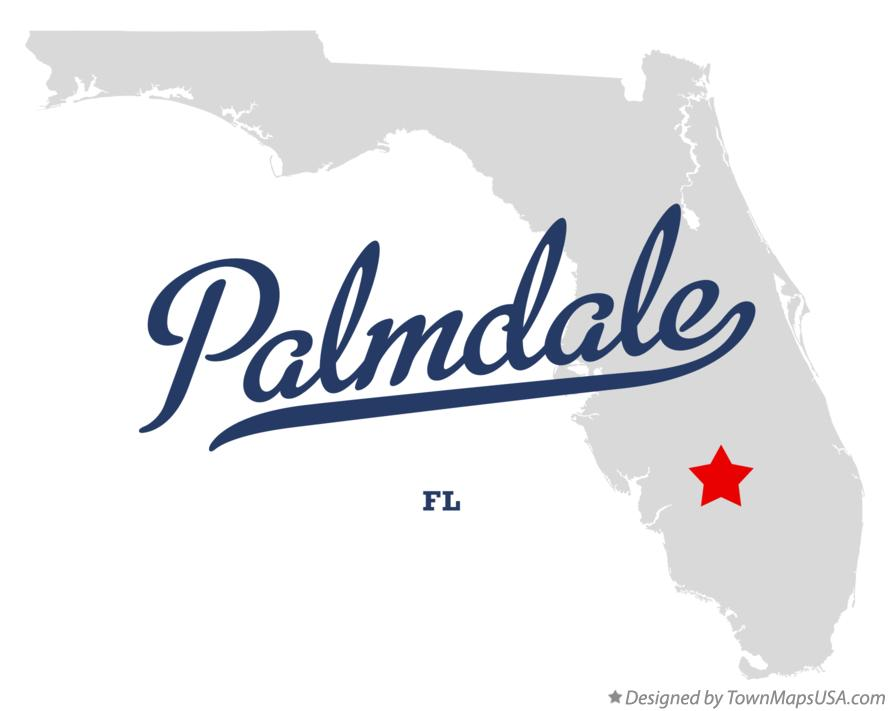 Map of Palmdale Florida FL