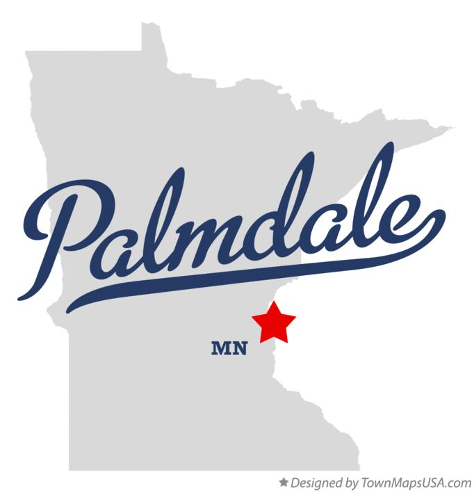 Map of Palmdale Minnesota MN