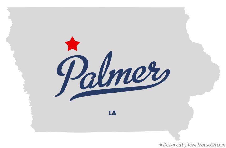 Map of Palmer Iowa IA