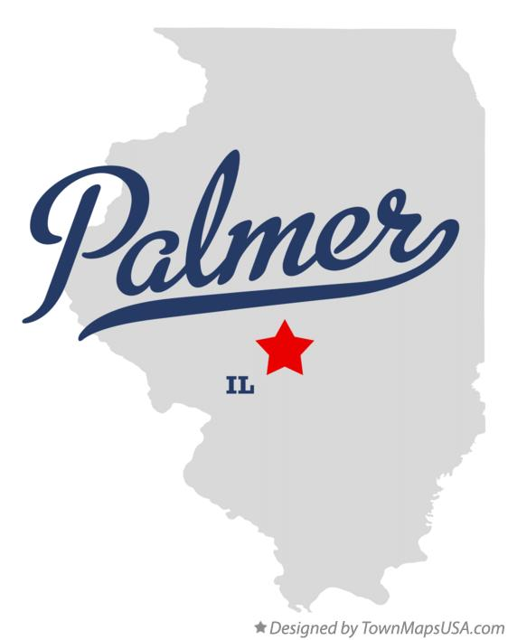 Map of Palmer Illinois IL