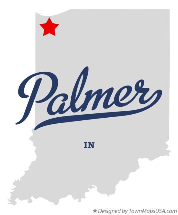 Map of Palmer Indiana IN