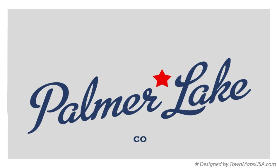 Map of Palmer Lake Colorado CO