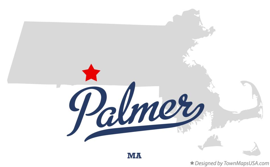Map of Palmer Massachusetts MA