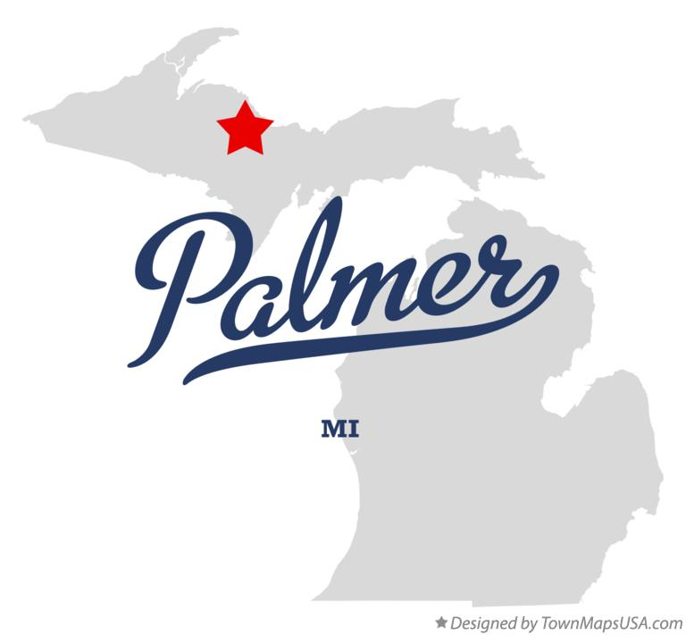 Map of Palmer Michigan MI