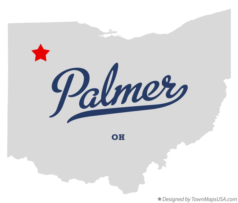 Map of Palmer Ohio OH