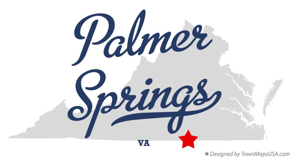 Map of Palmer Springs Virginia VA