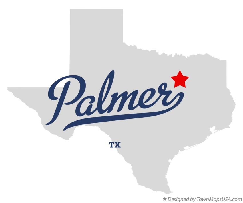 Map of Palmer Texas TX