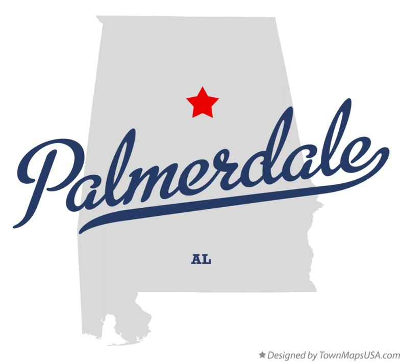 Map of Palmerdale Alabama AL