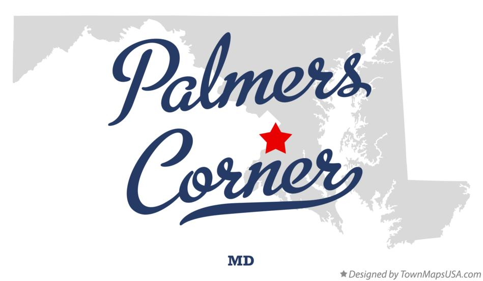 Map of Palmers Corner Maryland MD