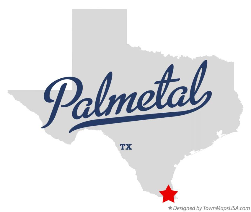 Map of Palmetal Texas TX