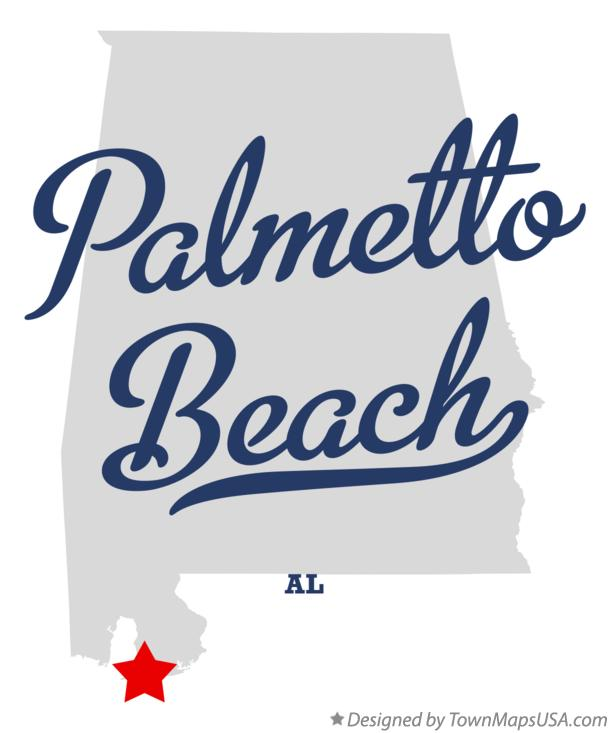 Map of Palmetto Beach Alabama AL