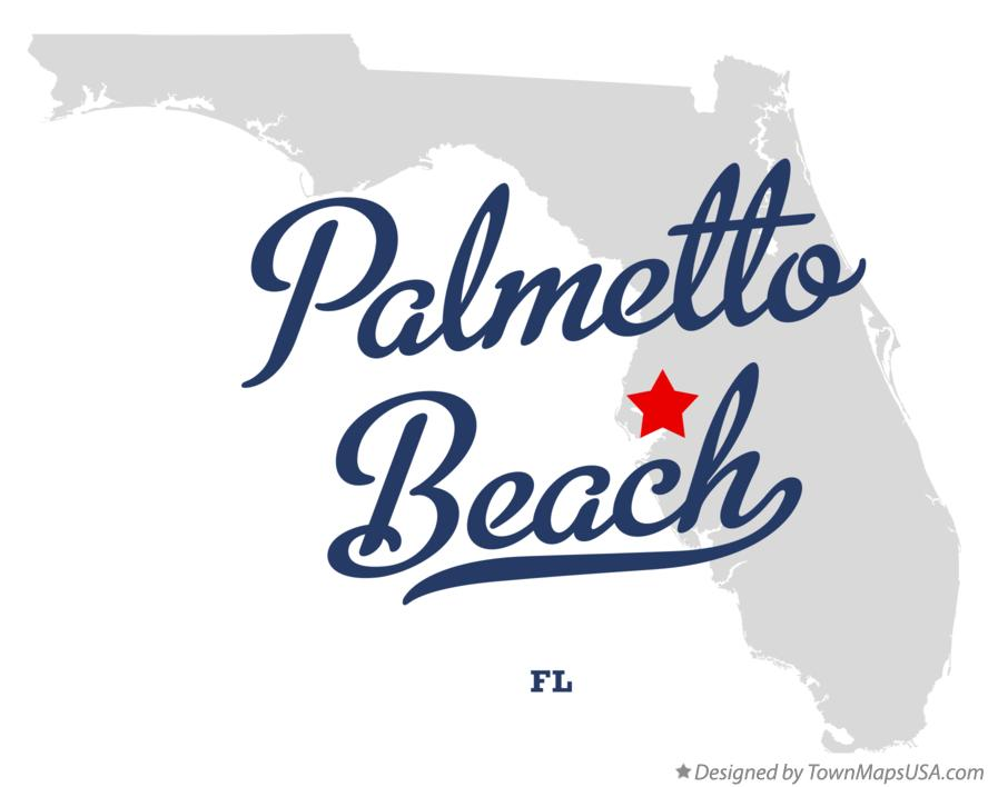 Map of Palmetto Beach Florida FL
