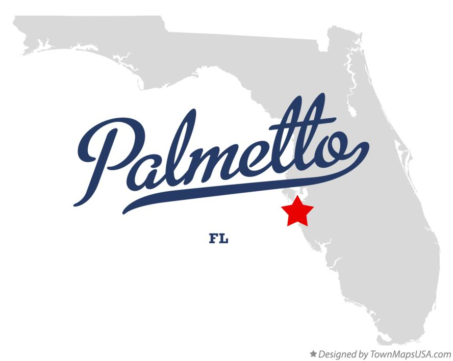 Map of Palmetto Florida FL