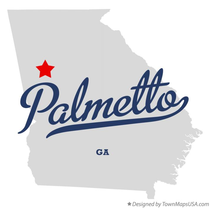 Map of Palmetto Georgia GA