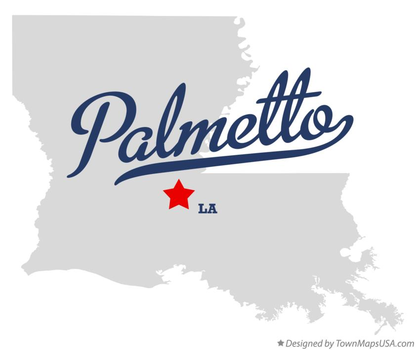 Map of Palmetto Louisiana LA