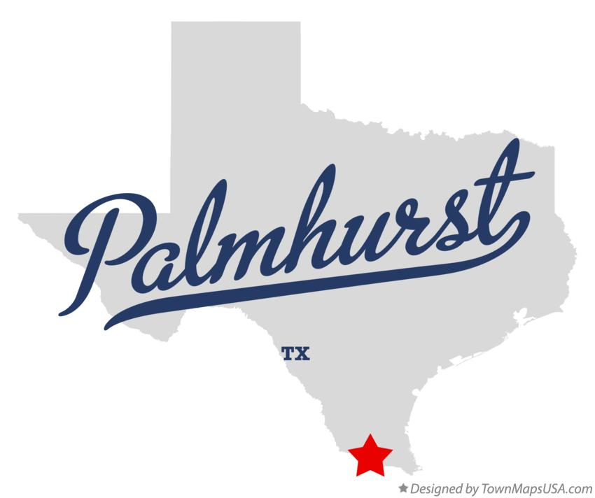 Map of Palmhurst Texas TX