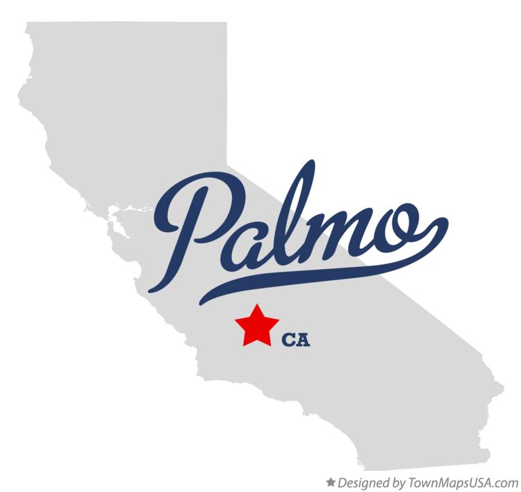 Map of Palmo California CA