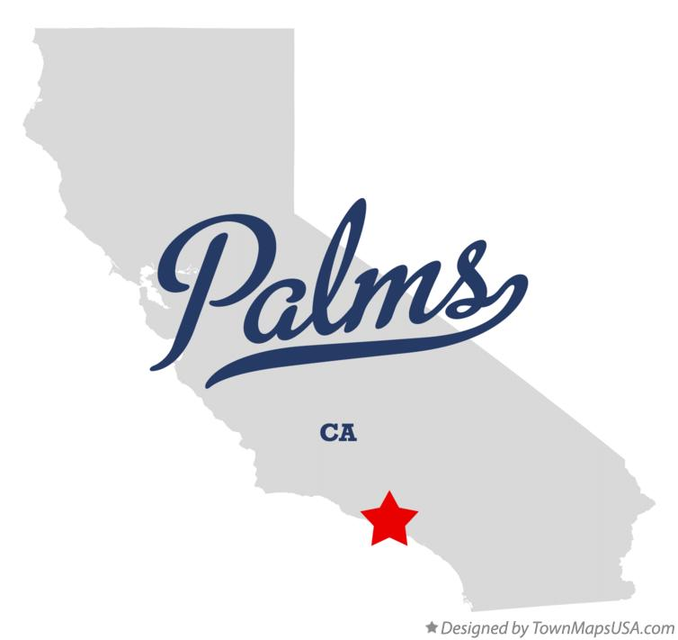 Map of Palms California CA