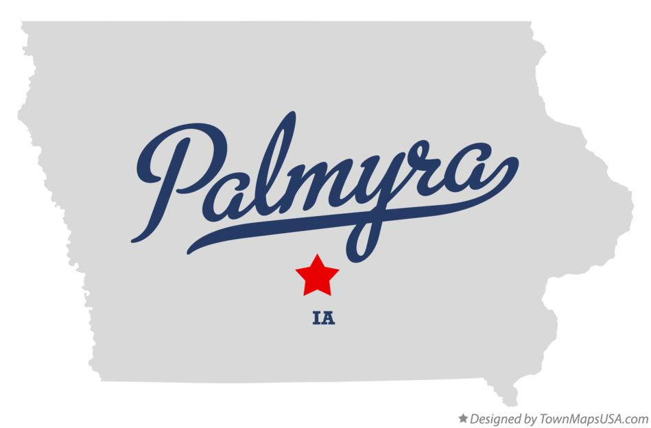 Map of Palmyra Iowa IA
