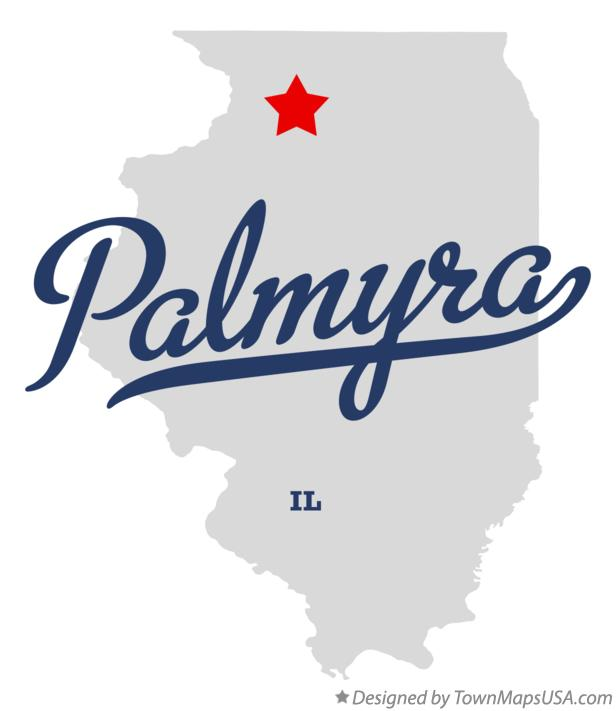 Map of Palmyra Illinois IL