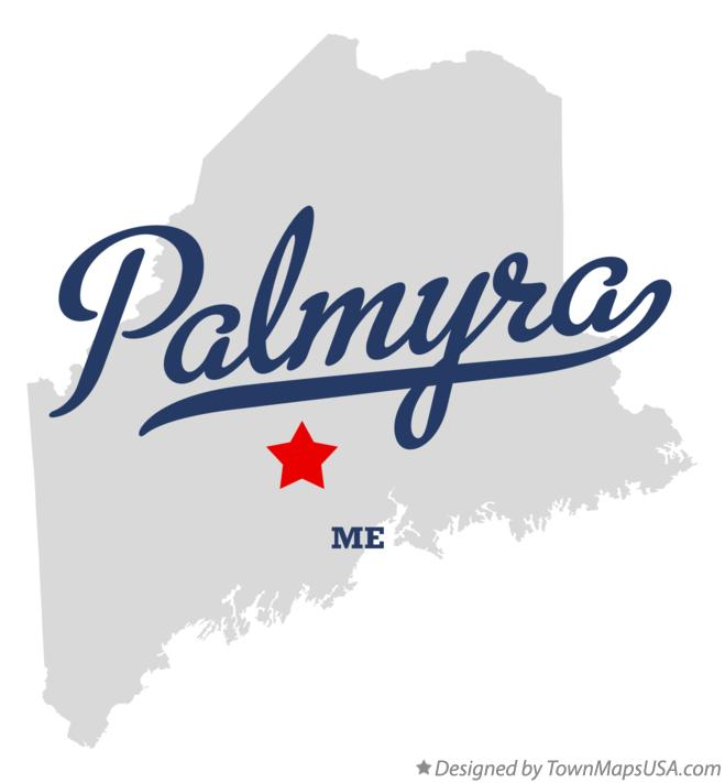 Map of Palmyra Maine ME