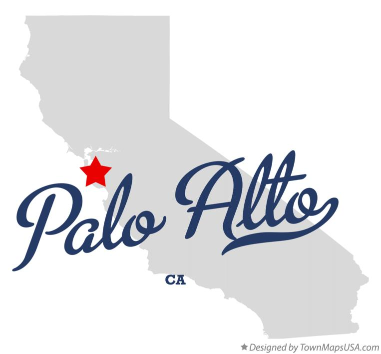 Map of Palo Alto California CA Map