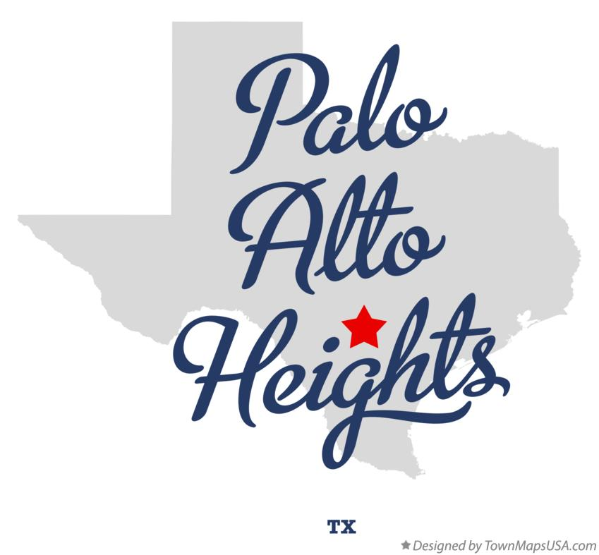 Map of Palo Alto Heights Texas TX