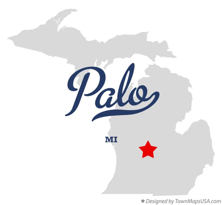 Map of Palo Michigan MI