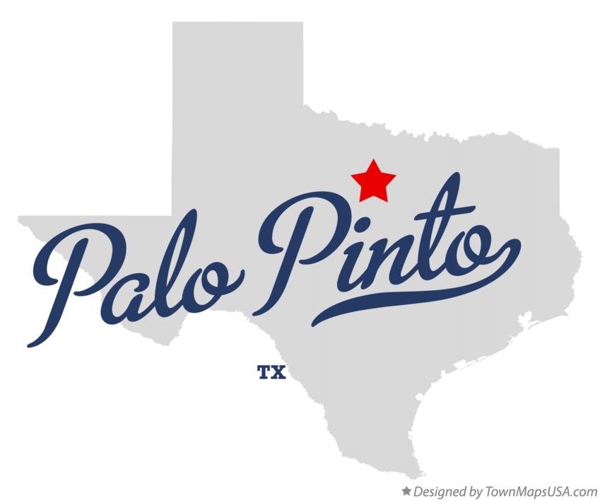 Map of Palo Pinto Texas TX
