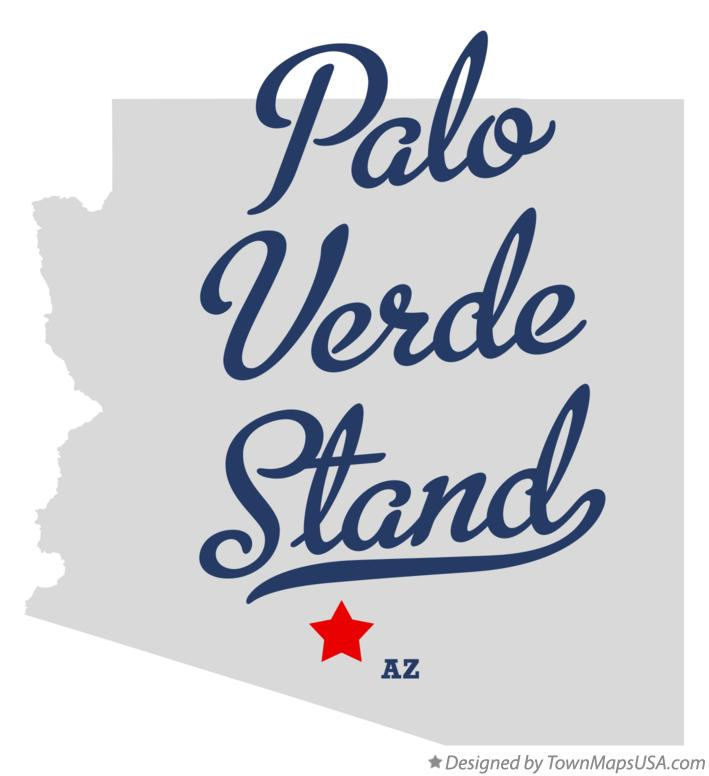 Map of Palo Verde Stand Arizona AZ