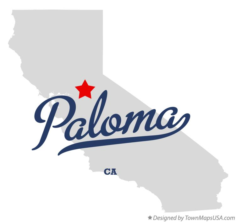 Map of Paloma California CA