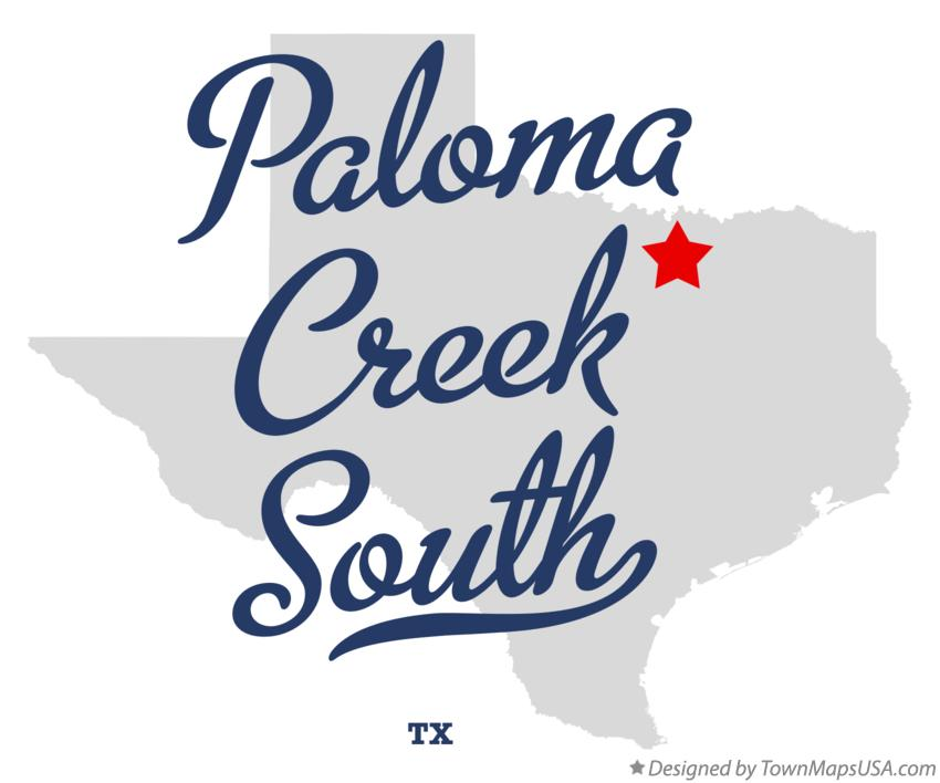 Map of Paloma Creek South Texas TX
