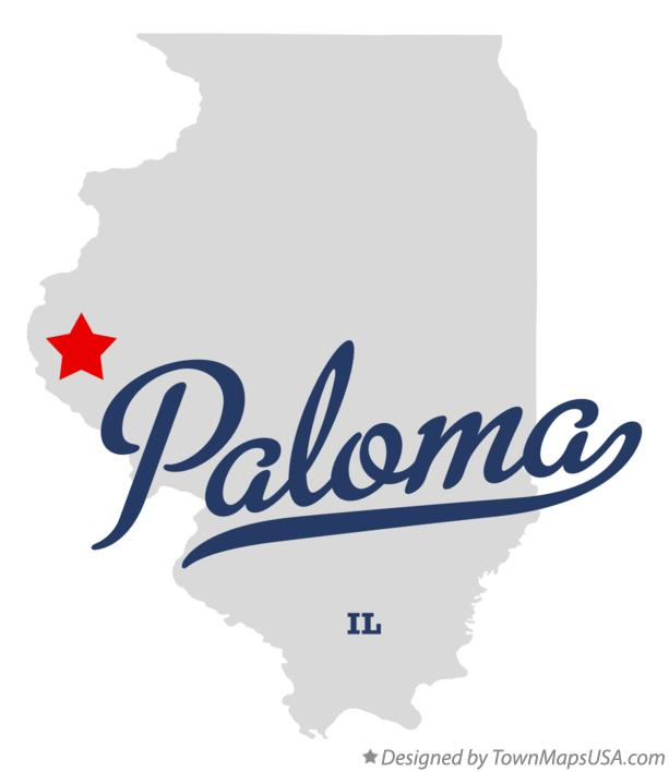 Map of Paloma Illinois IL