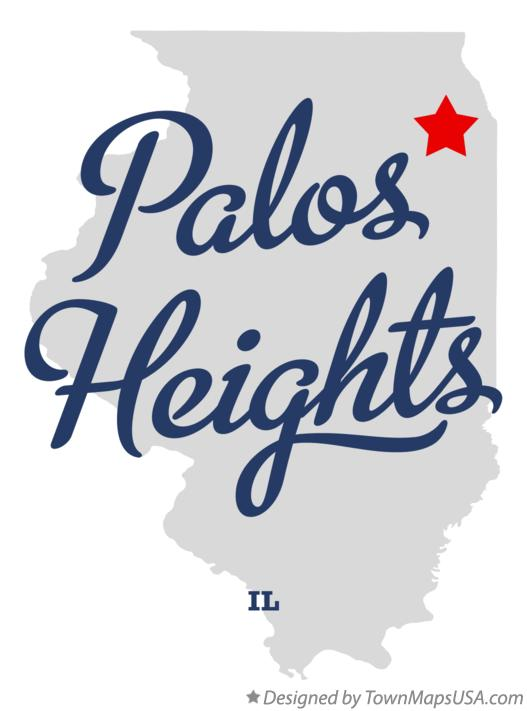 Map of Palos Heights Illinois IL